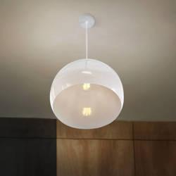 Lampa wisząca E27 biała HY-2701