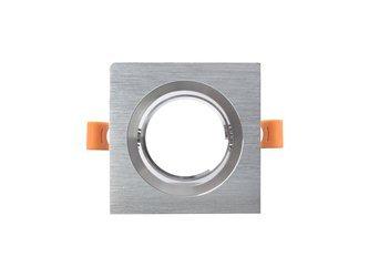 Oprawa halogenowa Led sufitowa ruchoma srebrna aluminium